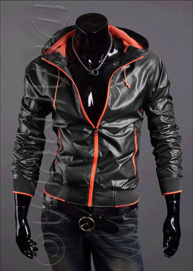 54d8e6cd0d pánská černá bunda s kapucí